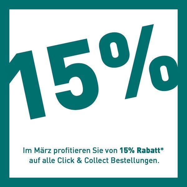 Click & Collect 15% Rabatt Aktion