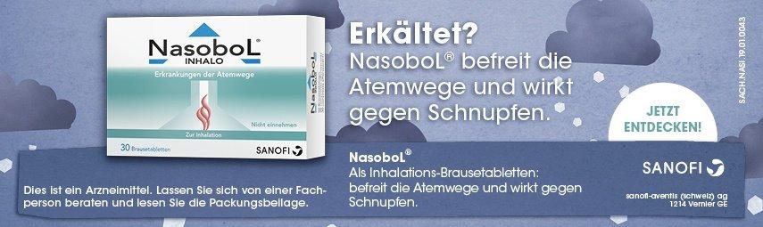 NasoboL® Inhalo befreit die Atemwege und löst den Schnupfen