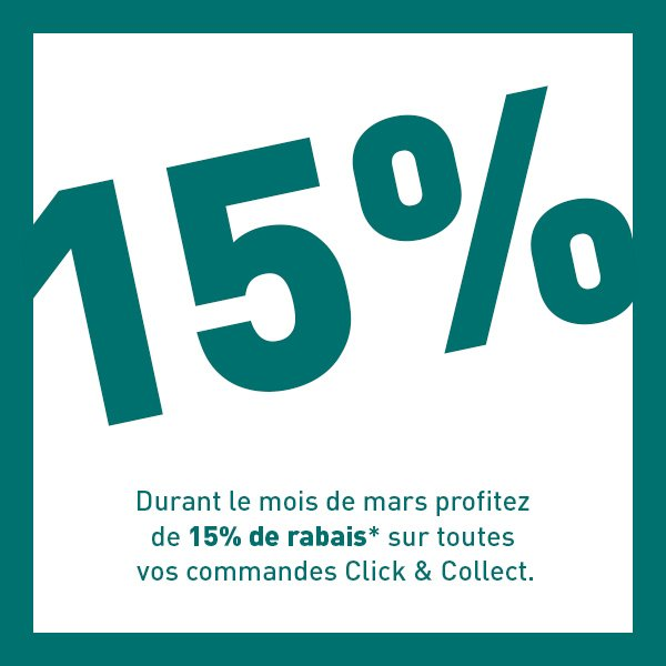 15% Click % Collect rabais