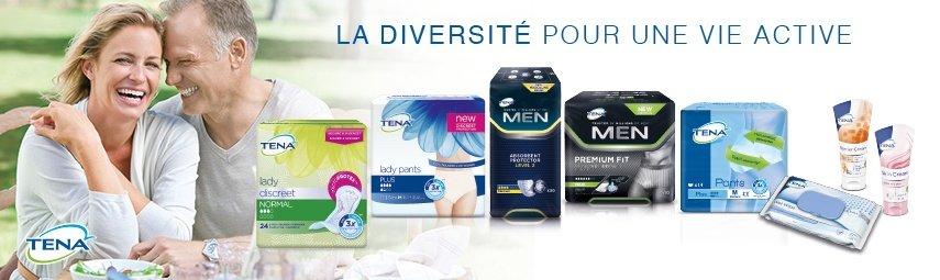 TENA propose une large gamme de produits et de solutions en cas d'incontinence pour les femmes et hommes.