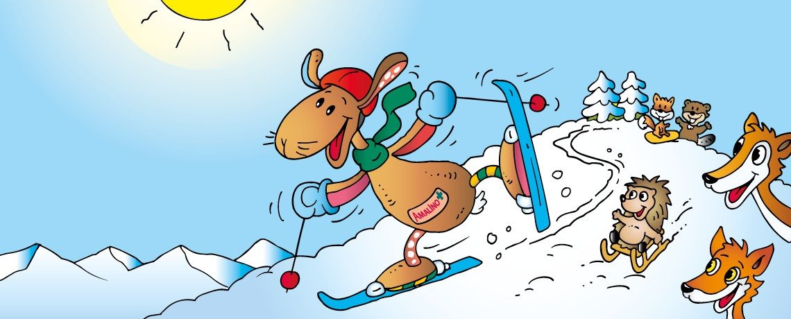 Amalino fährt Ski