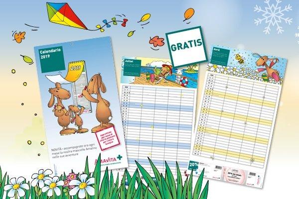 Amalino calendario famiglia